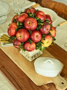 DIY Tutorial: DIY Thanksgiving / DIY Autumnal Apple Topiary Centerpiece - Bead&Cord