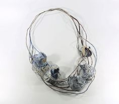 Akis Goumas Necklace: Untitled, 2016 Silver ,steel ,PVC, threads ,mixed techniques and pigments © By the author. Read Klimt02.net Copyright.