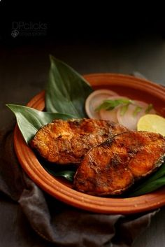 Seer fish fry - One of South Indian famous fish fry tastes yum with sizzling flavors in it.