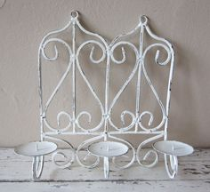 Your place to buy and sell all things handmade French Country Cottage, Cottage Chic, Beautiful London, Paris Chic, Metal Candle Holders, Candle Wall Sconces, Taper Candles, Home Wall Decor, Vintage Metal