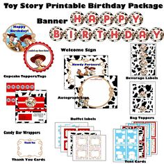 Toy Story Printable Birthday Party Package - Red