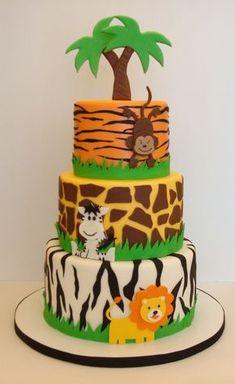 Jungle Safari Cake, Jungle Birthday Cakes, Jungle Theme Cakes, Safari Baby Shower Cake, Safari Theme Birthday, Safari Cakes, Baby Shower Cakes For Boys, Safari Birthday Party, Birthday Cake Toppers