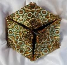 Image result for how to make a beaded kaleidocycle