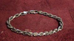 sterling silverlink bracelet by NewYorkJunk on Etsy