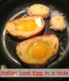 Sunday Brunch: Italian Loaf Egg in a Hole & Baked Bacon |My Thirty Spot