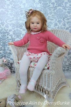 Alin by Conny Burke is a toddler sized vinyl reborn doll kit that comes with a sculpted head, arms, and legs. Reborn Child, Bb Reborn, Reborn Toddler Girl, Reborn Doll Kits, Child Doll, Reborn Baby Dolls, Pretty Baby, Baby Love, Bebe Rexha