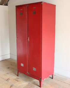 Exceptional Vintage Industrial Metal Locker Cabinet Kitchen Cupboard Storage Lockers  Larder In Antiques, Antique Furniture, Cabinets, 20th Century | EBay |  Decor ...
