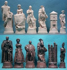 American Independence Crushed Stone chess set