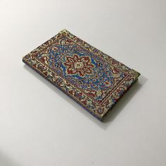 Notebook/ Journal / covered with Fabric / Ottoman pattern/ Blank with lines by HurremSultanJewelry on Etsy