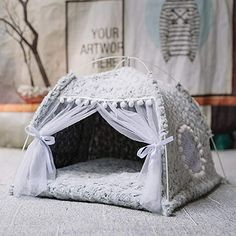 Winter Warm Cat Bed Foldable Small Cats Tent House Kitten for Dog Basket Beds Cute Cat Houses Home Cushion Pet Kennel Products Small Cat, Small Dogs, Cheap Cat Beds, Dog Tent, Pet Kennels, Cat Sleeping, Cat Supplies, Pet Beds, Kitten