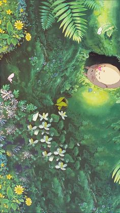 Studio ghibli,my neighbor totoro,hayao miyazaki Art Studio Ghibli, Studio Ghibli Movies, Studio Ghibli Quotes, Animes Wallpapers, Cute Wallpapers, Anime Backgrounds Wallpapers, Aesthetic Art, Aesthetic Anime, Movies Wallpaper