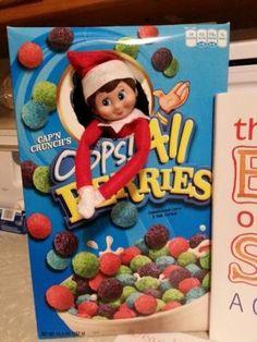 Elf on a Shelf idea!...