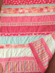 Rag Quilt Ideas On Pinterest Rag Quilt Peach Rose And