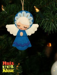 This is so cute! Finally found the perfect angel to make out of felt! (idea only)