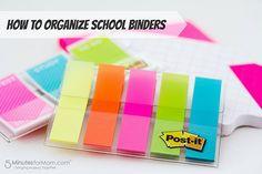 How to Organize School Binders