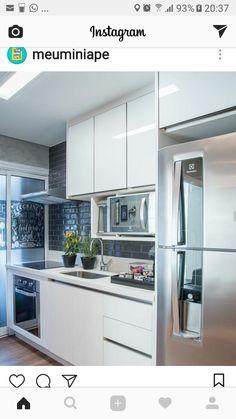52 Contemporary Home Decor Trending Now - Interior Design Home Decor Kitchen, Kitchen Interior, Interior Design Living Room, Home Kitchens, Kitchen Dining, Kitchen Cabinets, Dining Rooms, Küchen Design, House Design