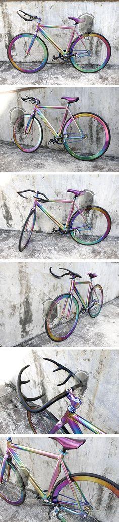 Sixxy Chameleon 700c Fixie Fixed Gear Bike ( Buckhorn ) - Sixxy Bike - UpgradeGopro.com