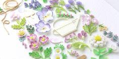 Flower Sampler | 小紙クラフト - Kogami Craft 3d Quilling, Paper Quilling Designs, Quilling Cards, Quilling Flowers, Quilling Ideas, Flower Petals, Paper Crafts, Tableware, Frame
