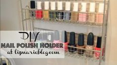 Spice rack or hanging wire shelf for nail polish