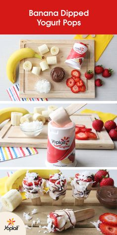Banana Dipped Yogurt Pops from Lovely Lady Cakes are the perfect after-school…