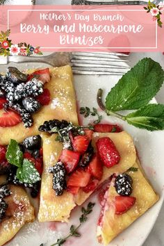 Berry and Mascarpone Blintzes Crepe Batter, Crepe Pan, Berry Juice, Mothers Day Brunch, Pan Set, Crepes, Fruit Salad, Berries, Gluten Free