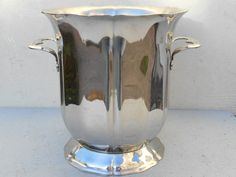 Guy Degrennes small ice bucket French vintage inox by Birdycoconut
