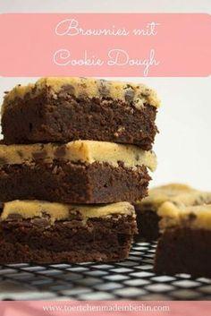 Rezept für Brownies mit Cookie Dough
