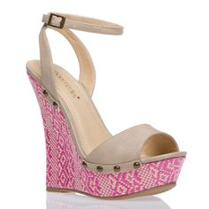 This shoe is perfect for spring and summer. Height, check. Pink, check. Affordable, check.