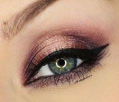 ojos verdes color champagne