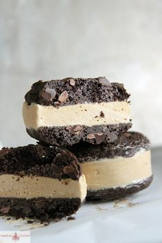 Chocolate Coffee Ice Cream sandwiches