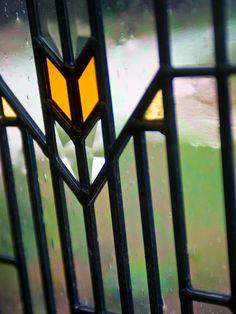 Leaded Glass in Blog Cabin's Front Door