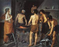 Diego Rodríguez de Silva y Velázquez: La fragua de Vulcano (hacia 1630). Madrid, Museo Nacional del Prado