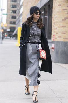 Pin for Later: Genießt das Wochenende mit den besten Street Style Shots der Fashion Week Street Style bei der New York Fashion Week, Februar 2016