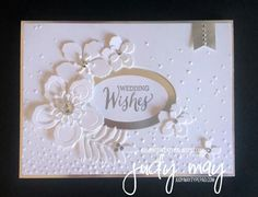 Wedding or beautiful birthday card - very pretty using Stampin'Up products