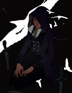 sten, tear his arms off : Photo Flock Of Crows, Six Of Crows, Character Inspiration, Character Design, Crooked Kingdom, Crow Art, The Grisha Trilogy, Leigh Bardugo, Fan Art