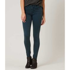 Flying Monkey Mid-Rise Skinny Stretch Jean ($60) ❤ liked on Polyvore featuring jeans, blue, skinny jeans, zipper skinny jeans, super skinny jeans, stretchy skinny jeans and slim jeans