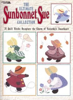 Recapture the charm of turn-of-the-century Sunbonnet Sue with these 24 applique blocks. Capture yesteryear's childhood sweetheart within a four seasons wall hanging and quilts (from baby to king-size)