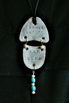 dance necklaces made with tapshoe taps