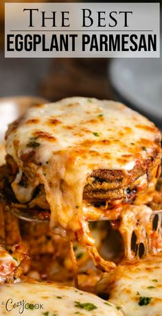 This is the BEST Eggplant Parmesan recipe you can hope to find! The steps are cl… This is the BEST Eggplant Parmesan recipe you can hope to find! The steps are clearly outlined, making this very easy to bake or fry! You can even make this ahead of time! Best Eggplant Parmesan Recipe, Easy Eggplant Recipes, Italian Eggplant Recipes, Vegetarian Eggplant Recipes, Best Vegetarian Recipes, Vegetable Dishes, Vegetable Recipes, Cooking Recipes, Healthy Recipes