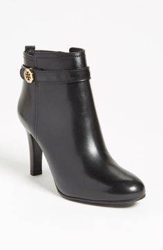 I don't think I can wait until Fall to wear these new boots. They are too sexy to sit in the closet! - Tory Burch 'Brita' Bootie available at #Nordstrom #NSale