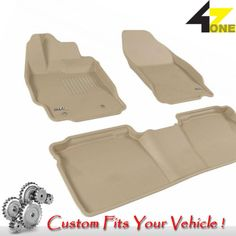 3D Fits 2012-2013 Scion tC G3AC21498 Tan Waterproof Front and Rear Car Parts For
