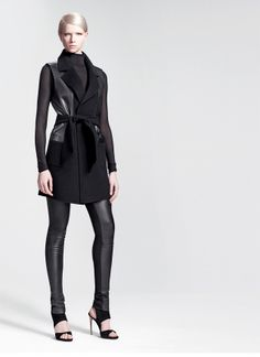 Shop Key Element: Leather #Leather #Fashion #DonnaKaran