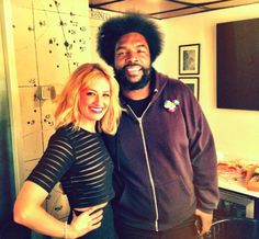 @bethbehrsreal and @questlove hanging out backstage!