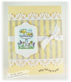 """Happy Wednesday! Hope your day is off to a great start! Sharing a couple cards with you today using a stamp set that is retiring called """"For the Birds"""". In case this card looks familiar, it's a ..."""