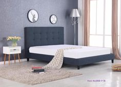 Sophie Queen Bed Frame in Grey( Price for Bed Frame Only )