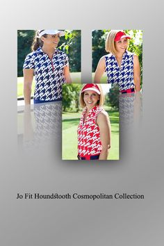 Before you set off to golf, it is important you have the right gear as well as any additional accessories such as a hat, water bottle, umbrella, etc. However, the first and foremost thing you should not forget is an outfit that is perfect for the game and incredibly sexy and flattering. This is where the Jo Fit Houndstooth Cosmopolitan Collection comes in and fights the search for a super-sexy and gorgeous outfit. #lorisgolfshoppe