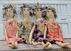 Handmade Dolls Primitive Doll Rag Doll by cavecreekprimitives, $23.00