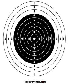 Classic concentric red circles on this target give for Bullseye template printable