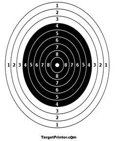 Printable Target Numbered Bullseye Gun Shooting Range