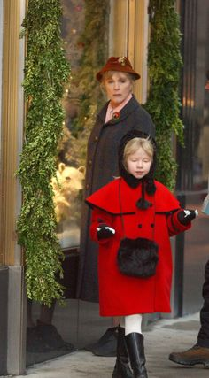 Eloise at the Plaza located in New York City, New York, with her nanny who was portrayed by Julie Andrews.